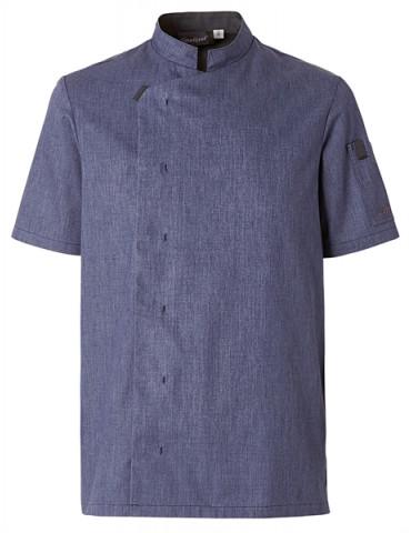 pantalon h. cuisine PIO3 blc/bleu